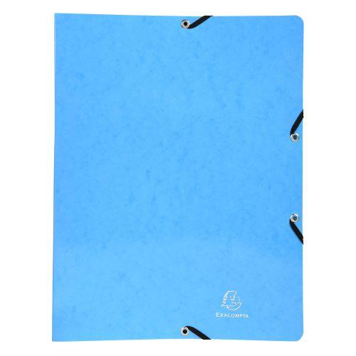 Iderama 2-Ring Binder w/Elastic 32x25cm 15mm L/Blue PK20