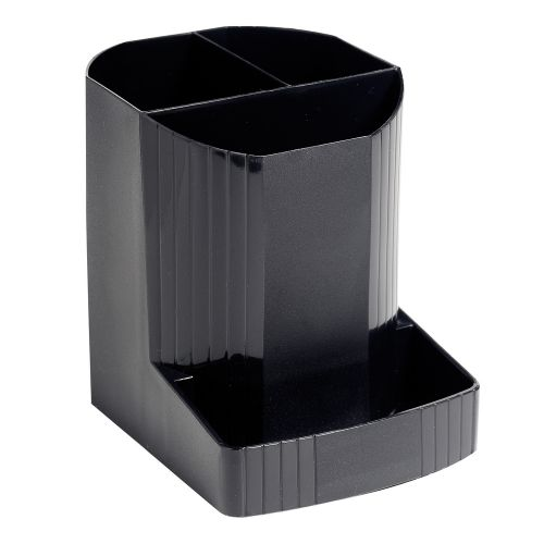 Exacompta ECOBlack Mini Octo Recycled Pen Pot 123x90x110mm