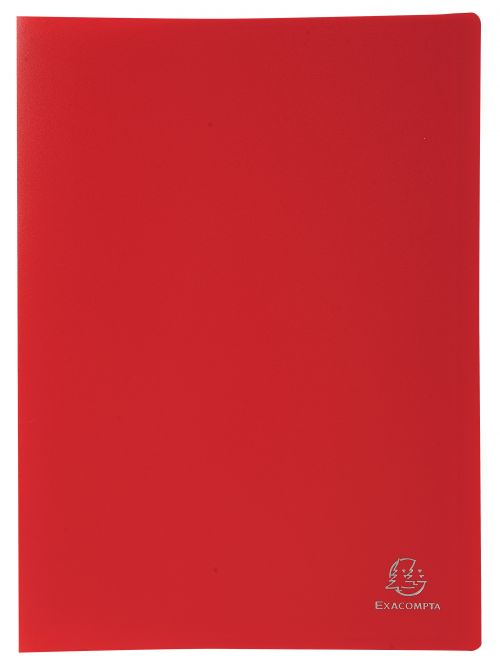 Exacompta Display Book Soft Eco PP A4 40 Pockets Red
