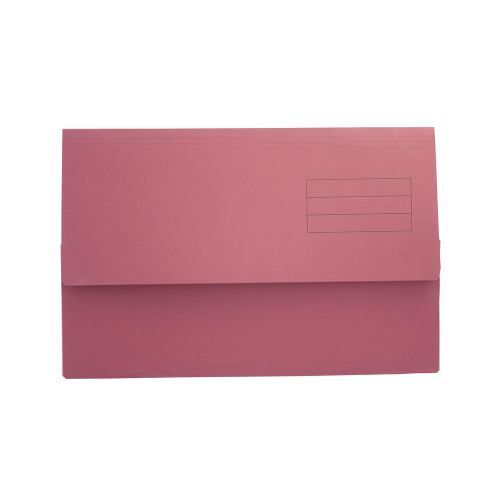 ValueX Document Wallet Foolscap Red (Pack 50)