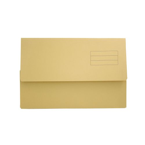Value Document Wallet Foolscap Yellow PK50