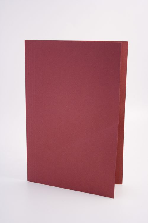 Guildhall Square Cut Folder Foolscap 250gsm Red PK100