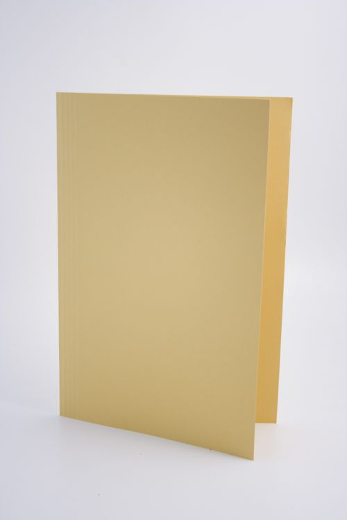 Guildhall Square Cut Folder Foolscap 250gsm Yellow PK100