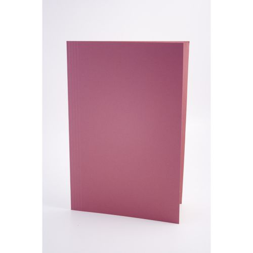 Guildhall Square Cut Folders Manilla Foolscap Pink PK100