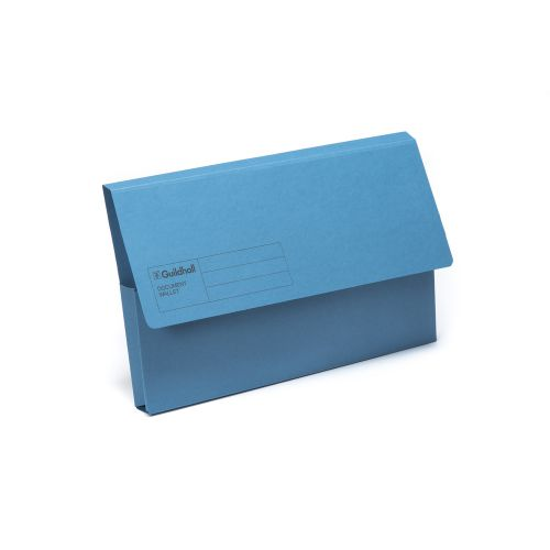 Guildhall Document Wallet Fs Blue Pk50