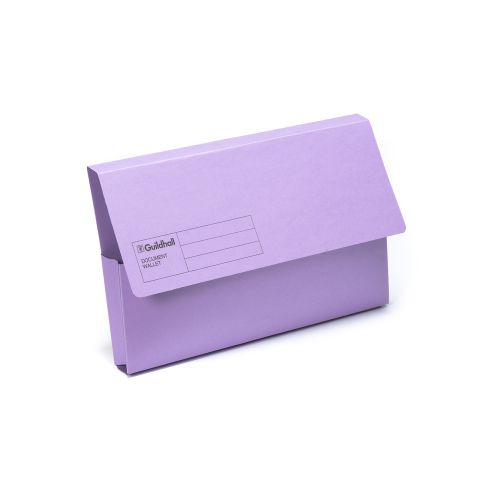 Guildhall Document Wallet Fs Violet Pk50