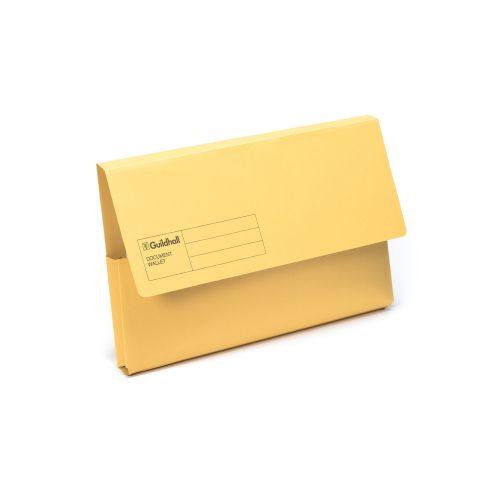 Guildhall Document Wallet Foolscap Yellow GDW1-YLW