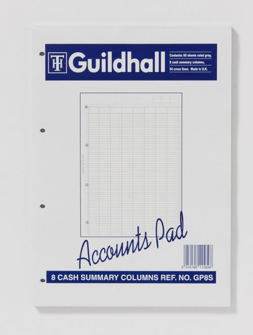 Image for Guildhall Account Pad 8 Summary Column A4 60 Leaf GP8SZ