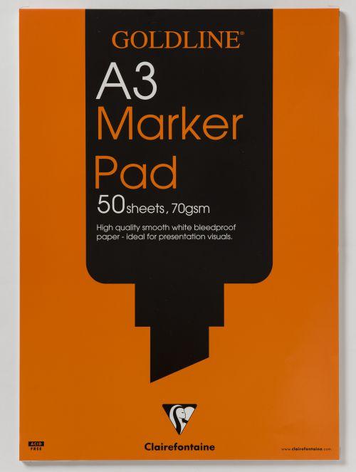 Goldline Bleedproof  Marker Pad A3 GPB1A3Z