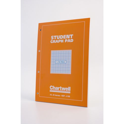 Chartwell Student Graph Pad A4 15mm and 10mm (PK10)