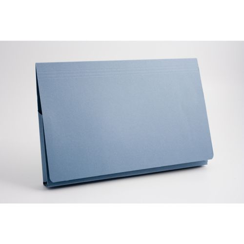 Guildhall Document Wallet Full Flap 35mm Foolscap Blue PK50