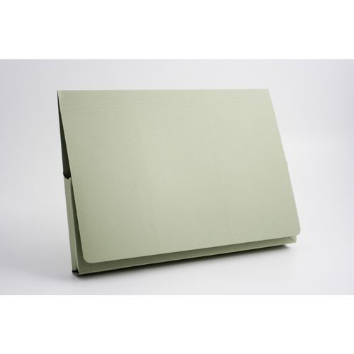 Guildhall Document Wallet Full Flap 35mm Foolscap Green PK50