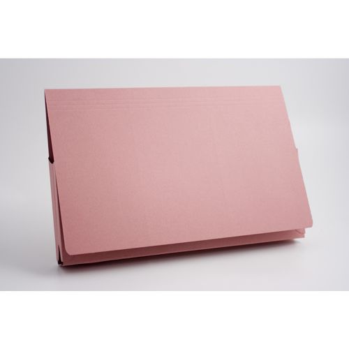Guildhall Document Wallet Full Flap 35mm Foolscap Pink PK50