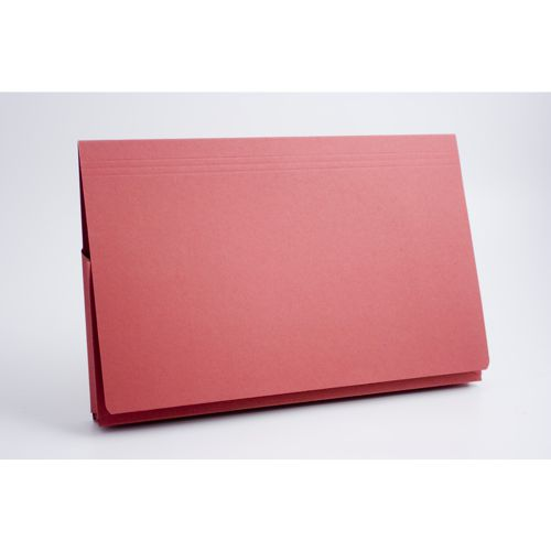 Guildhall Document Wallet Full Flap 35mm Foolscap Red PK50