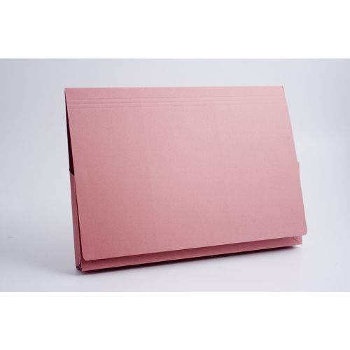 Guildhall 356x254mm Legal Wallet Full Flap Pink PK50