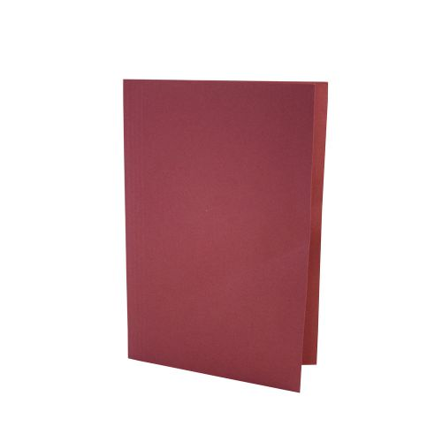 Value Square Cut Folder LightWeight Foolscap Red PK100
