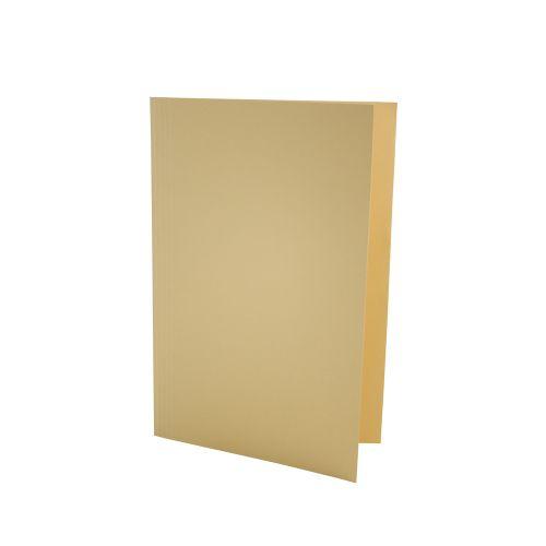 Value Square Cut Folder LightWeight Foolscap Yellw PK100