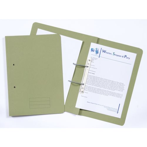 ValueX Transfer File Foolscap Green TFM-GRNZ (Pack 25)