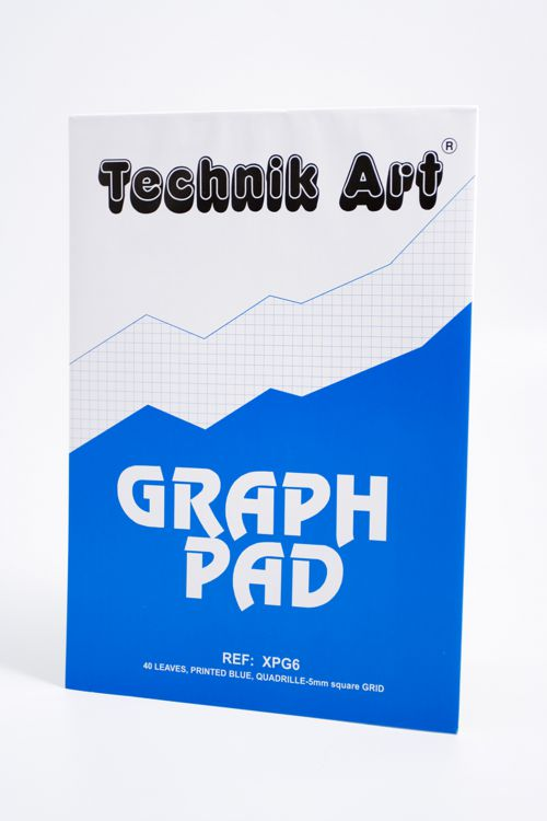 Technik Art Graph Pad A4 5mm Quadrille XPG6Z