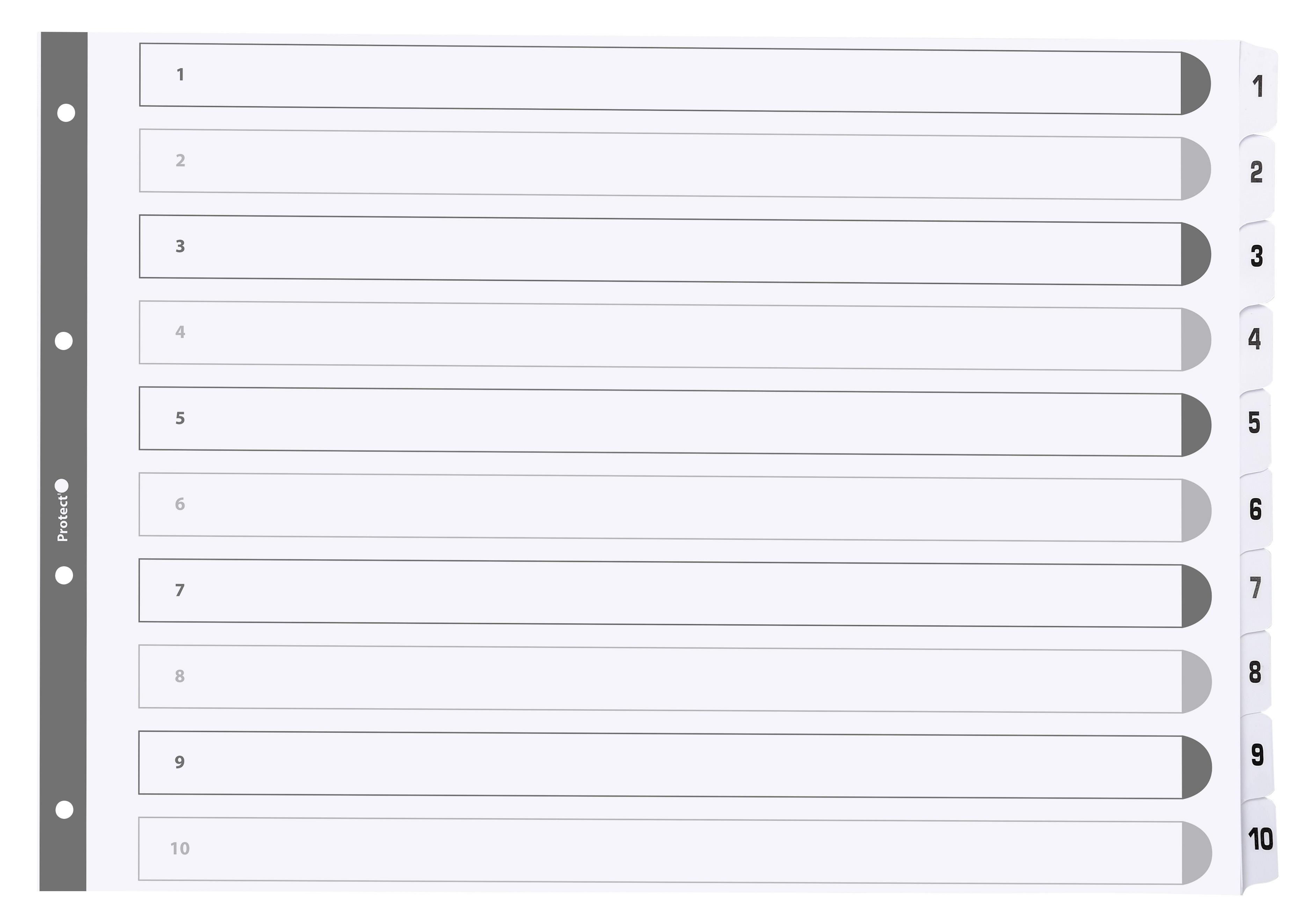 Exacompta Printed 160gsm Index 1-10 A3