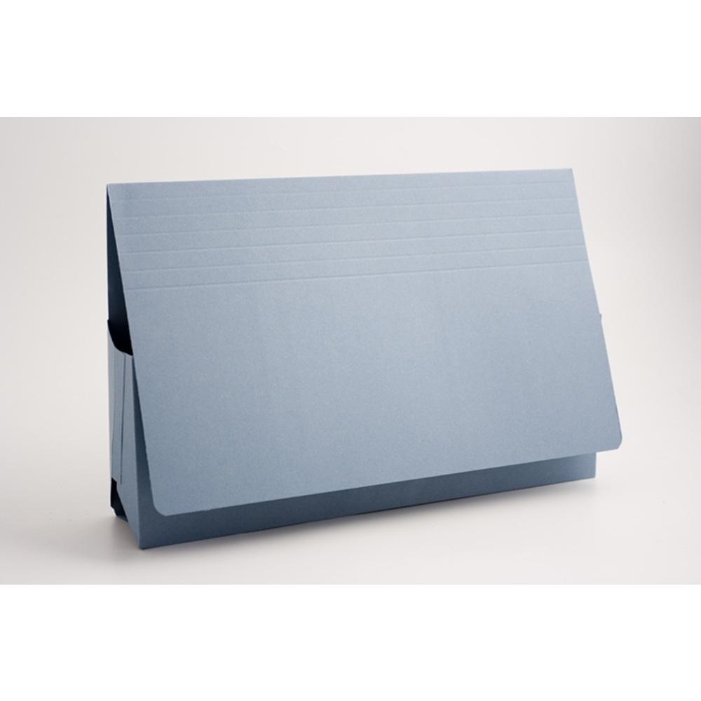 Exacompta Guildhall Probate Document Wallet 315gsm Blue (Pack of 25) PRW2-BLUE