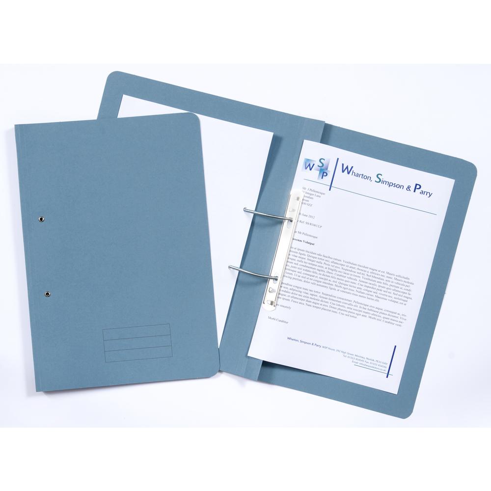 Box Files ValueX Transfer File Foolscap Blue TFM-BLUZ (Pack 25)