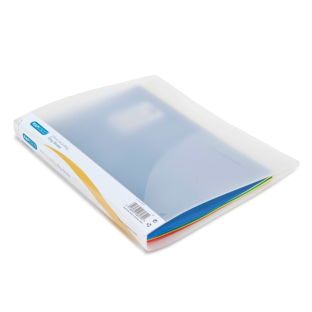 25mm 2-Ring Binder A4 (clear) PK10