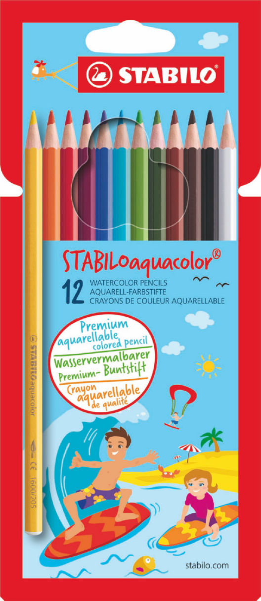 Pencils (Wood Case) Stabilo Aquacolor Water Colour Pencils PK12