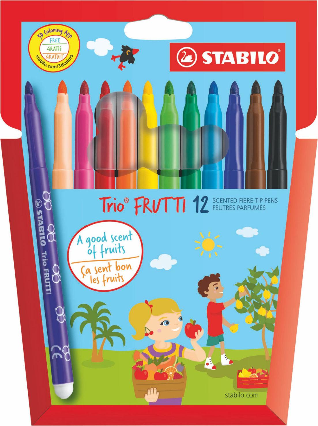 Colouring Pens Stabilo Trio Frutti Scented Felt Pens PK12