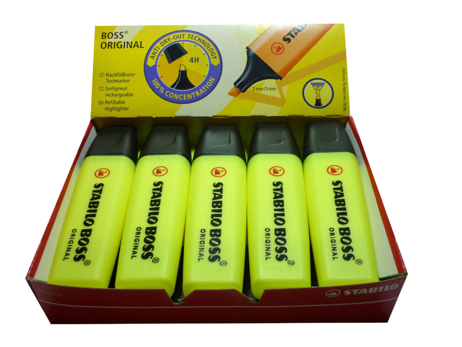 Boss Highlighter Yellow PK10