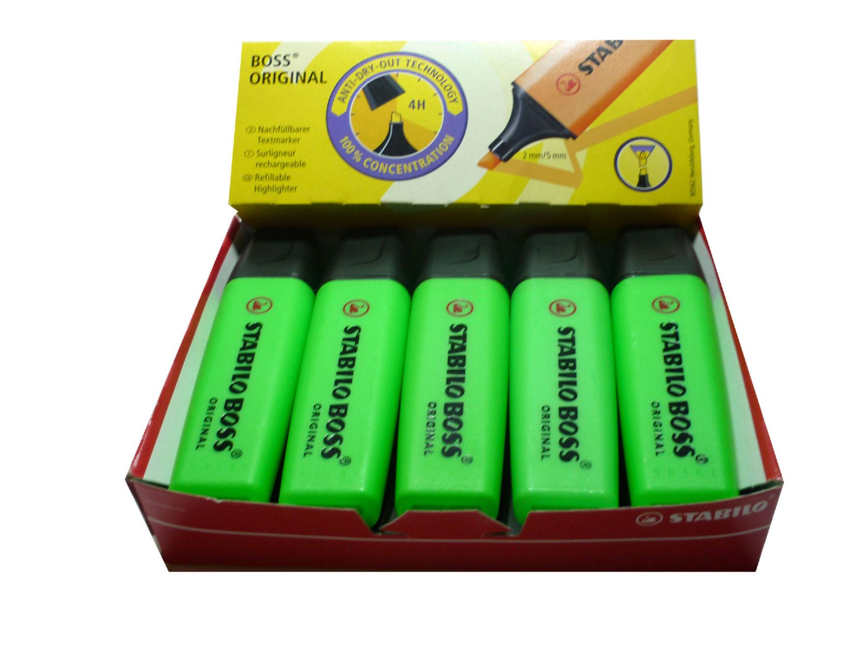 Highlighters Stabilo Boss Highlighters Chisel Tip 2-5mm Line Green PK10
