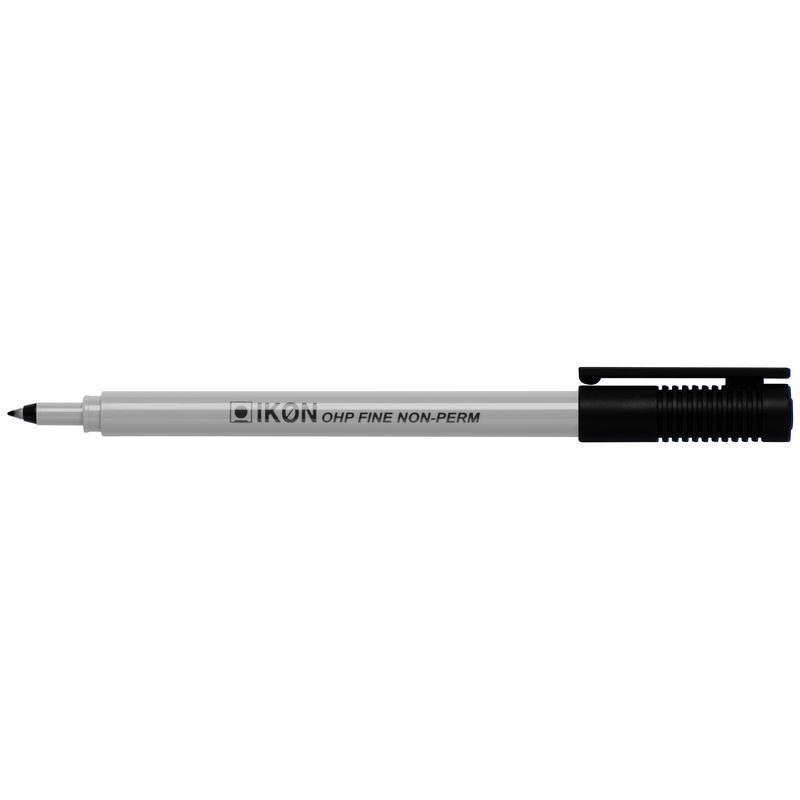 Non-Permanent Markers ValueX OHP Non-Permanent Fine Black (Pack 10)