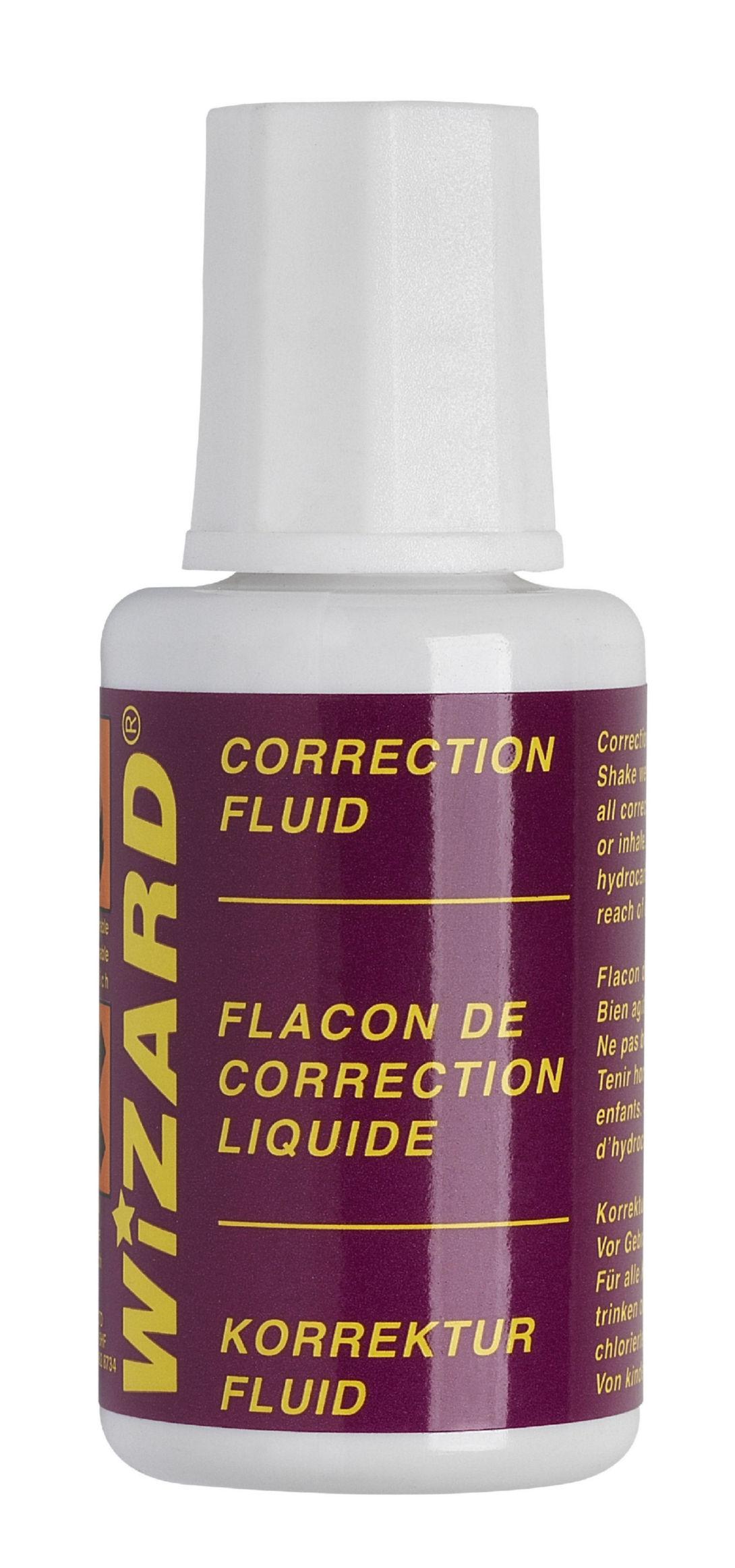Correction Fluid ValueX Correction Fluid Bottle 20ml White (Pack 10)