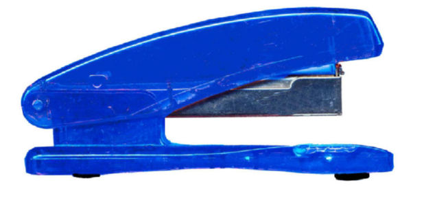 Long Arm Staplers ValueX Plastic Stapler Half Strip Blue
