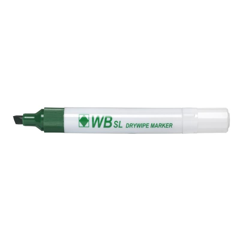 Drywipe Markers ValueX Drywipe Marker Chisel Tip Green (Pack 10)