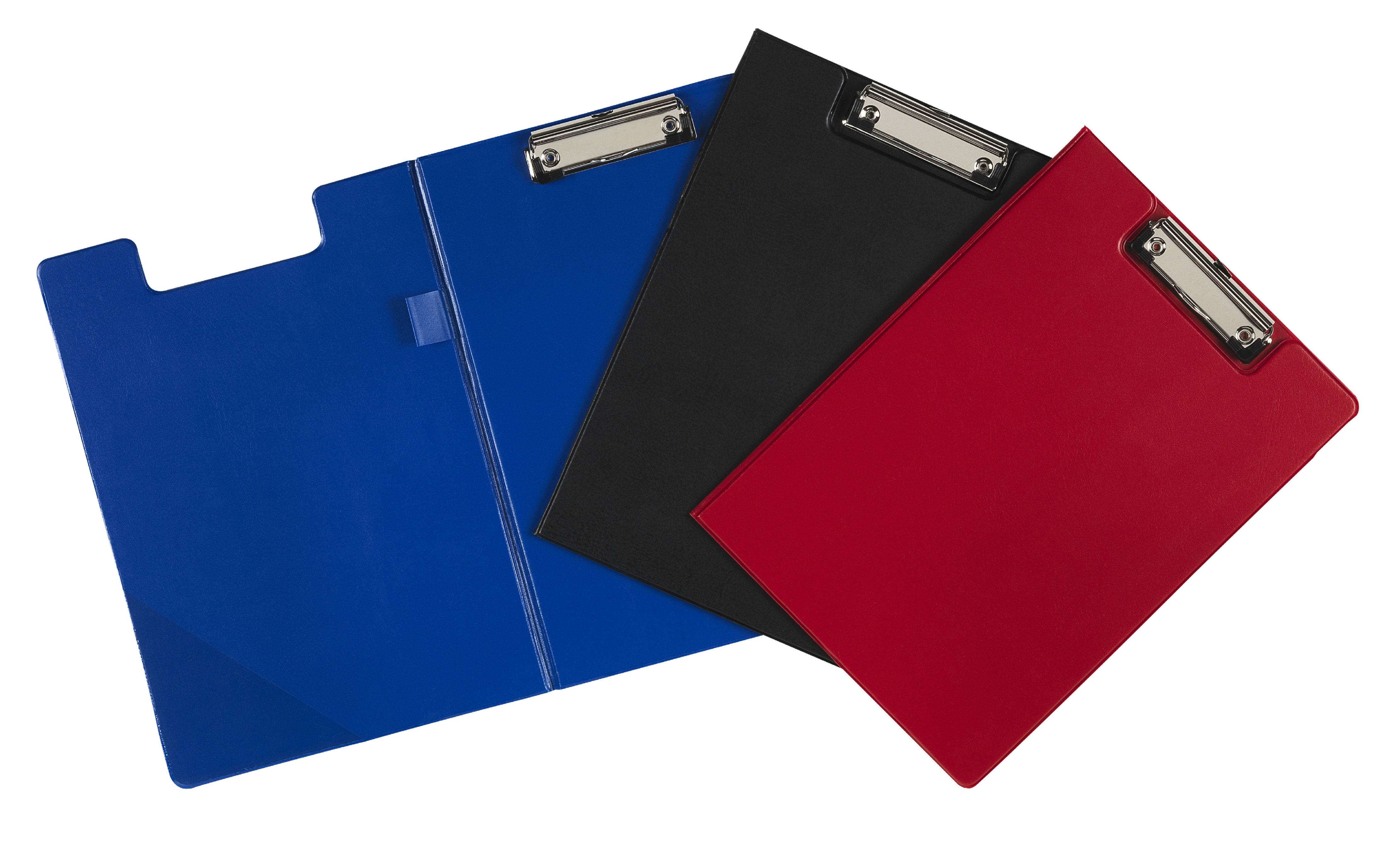 Value PVC Fold Over A4 Clipboard Red