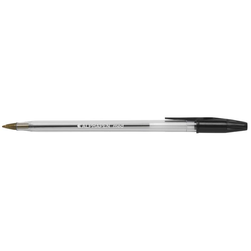 Ball Point Pens ValueX Ball Pen Medium 0.7mm Black (Pack 50)