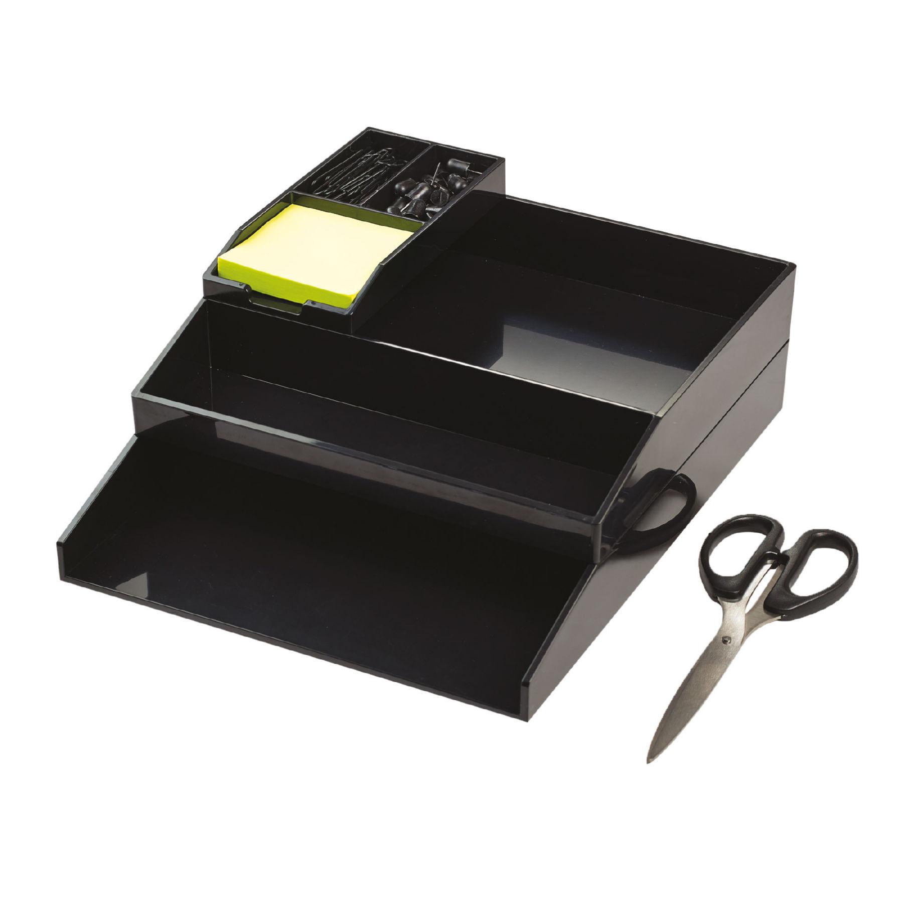Avery ColorStak Office Desk Set Black