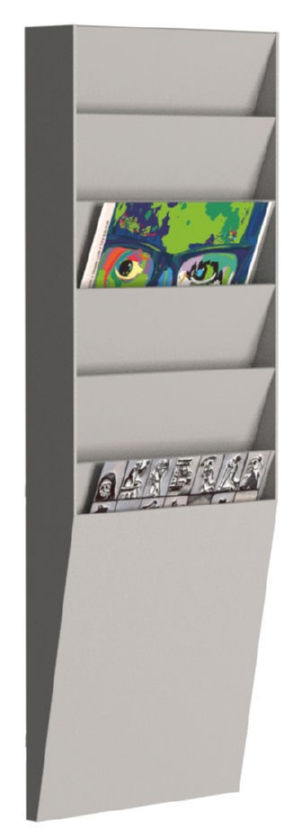 Fast Paper Document Panel 1x6 Comp A4 Grey