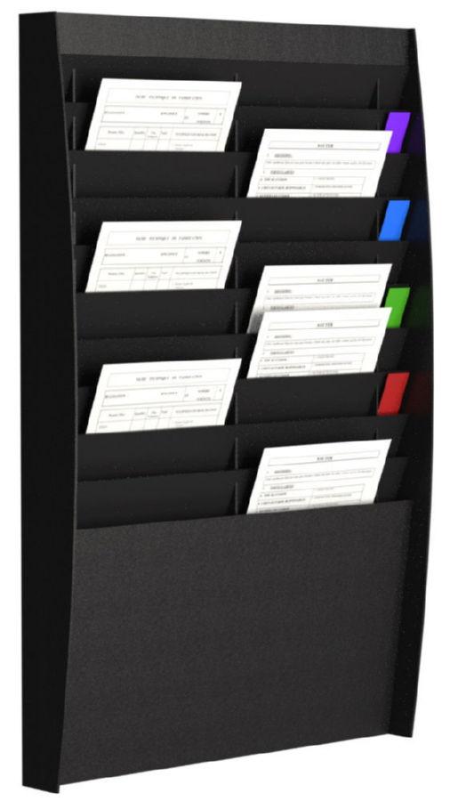 Fast Paper Document Panel 2x10 Comp A4 Black