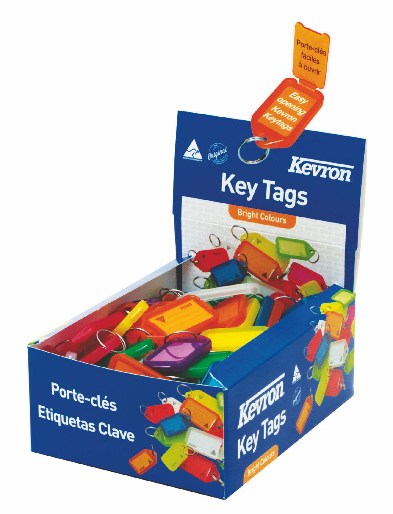 Briefcases & Luggage Kevron Keytags Plastic Tub Assorted ID5AC100Z (PK100)
