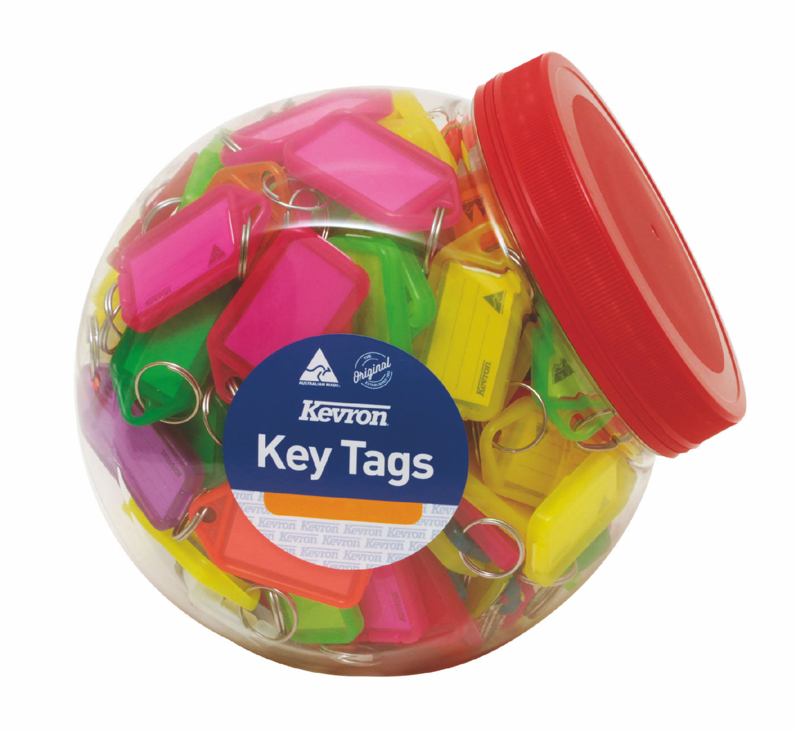 Briefcases & Luggage Kevron Keytags Plastic Tub Assorted ID5AC150Z (PK150)