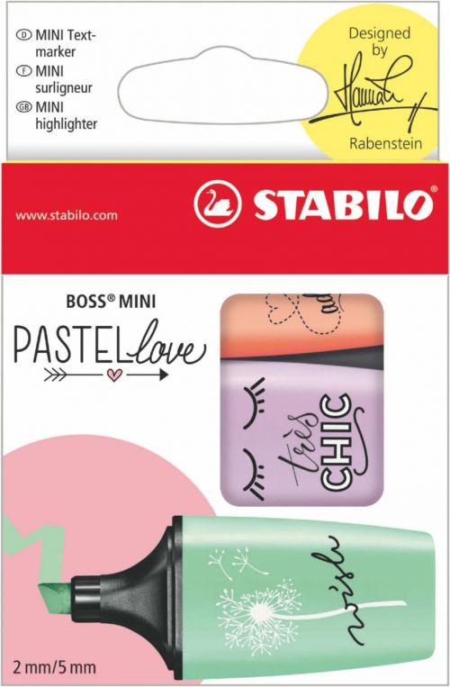 Stabilo BOSS MINI Pastellove Highlighters PK3