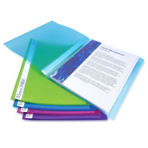 Rapesco 10 Pocket A4 Flexi Dsplay Book Assorted Colours PK10