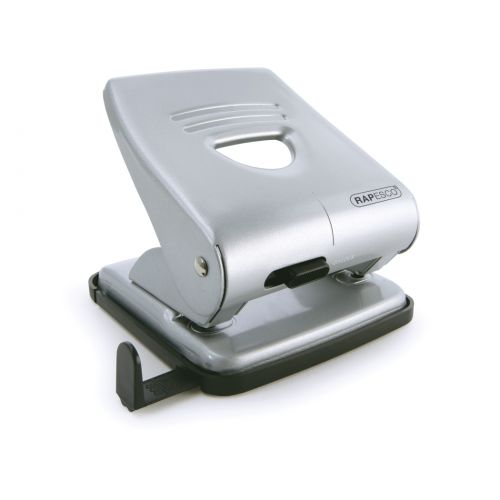 Rapesco 827 2-Hole Metal Punch 30 Sheet Silver