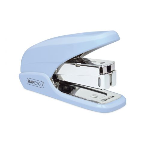 Rapesco X5 Mini Less Effort Stapler 20 Sheets Powder Blue