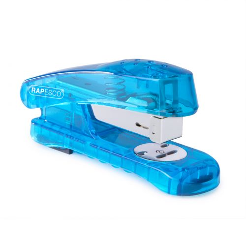 Rapesco Snapper Sea-Thru Half Strip Stapler Blue