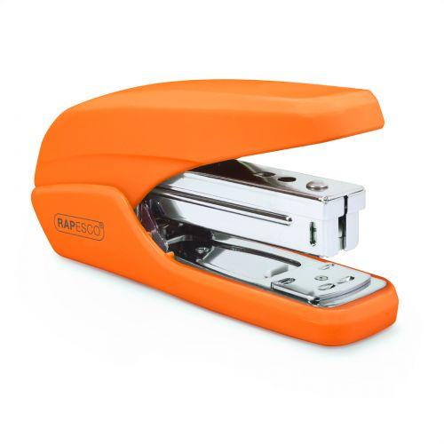 Rapesco X5-25ps Less Effort Stapler Plastic 25 Sheet Orange