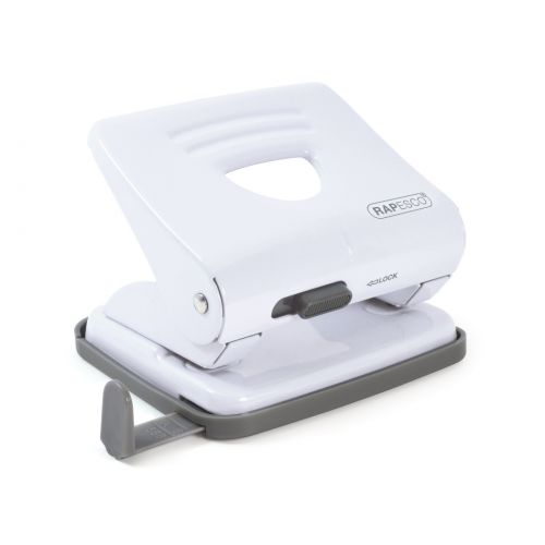 Rapesco 825 2 Hole Metal Punch (25 Sheets) (White)