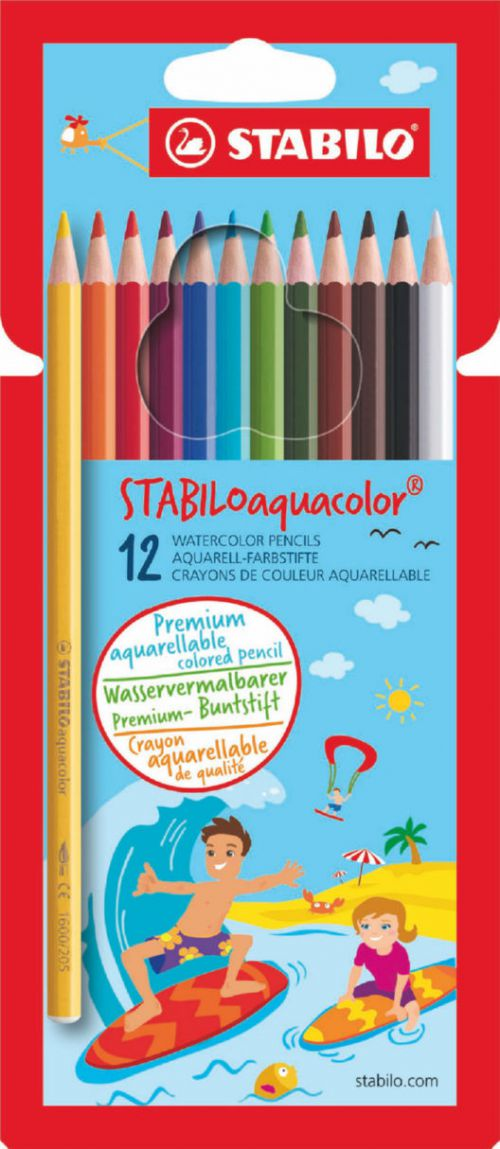 Stabilo Aquacolor Water Colour Pencils PK12